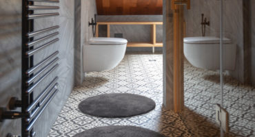 bathroom circle rug kena